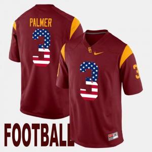 Men #3 USC US Flag Fashion Carson Palmer college Jersey - Maroon