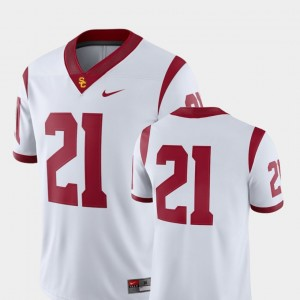 Men's 2018 Game Football USC Trojans #21 college Jersey - White