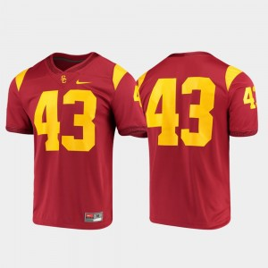 Men's #43 Trojans Game college Jersey - Cardinal