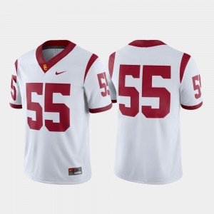 Mens Trojans Game #55 Football college Jersey - White