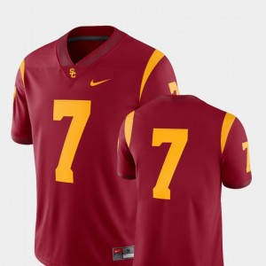 Men #7 Football 2018 Game USC college Jersey - Cardinal