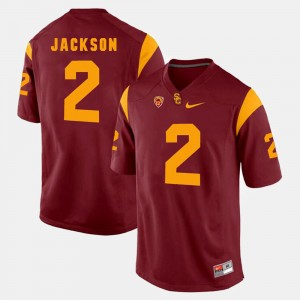 Mens USC Trojans #2 Pac-12 Game Adoree' Jackson college Jersey - Red