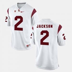 Mens USC Trojan Pac-12 Game #2 Adoree' Jackson college Jersey - White