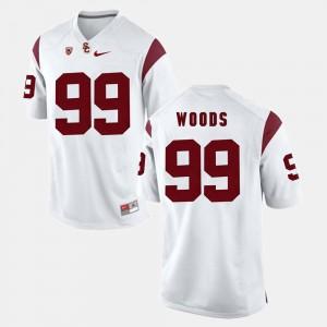Men #99 Pac-12 Game Trojans Antwaun Woods college Jersey - White