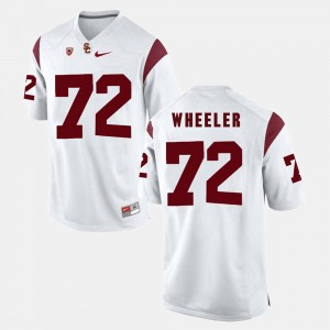 Men's Pac-12 Game Trojans #72 Chad Wheeler college Jersey - White