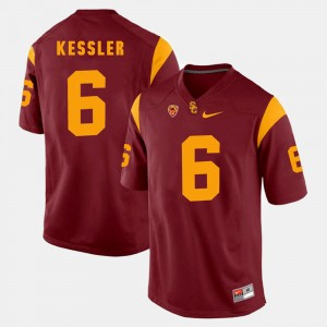 Men Pac-12 Game Trojans #6 Cody Kessler college Jersey - Red