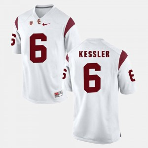 Men's Pac-12 Game #6 USC Trojan Cody Kessler college Jersey - White