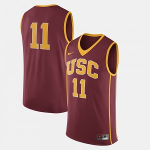 Men USC Trojan Football #11 college Jersey - Cardinal
