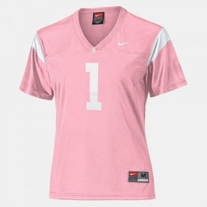 Ladies Football #1 USC college Jersey - Pink