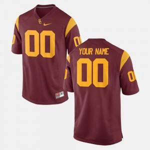 Mens Football #00 USC Trojan college Custom Jerseys - Cardinal
