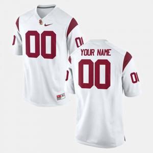 Men #00 Football USC Trojans college Customized Jersey - White
