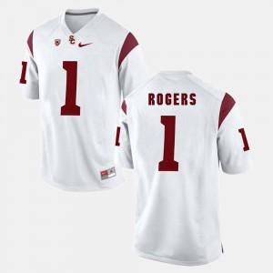 Mens Pac-12 Game #1 USC Trojan Darreus Rogers college Jersey - White