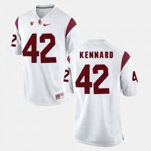 Mens Pac-12 Game #42 Trojans Devon Kennard college Jersey - White