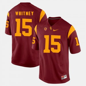 Men Trojans #15 Pac-12 Game Isaac Whitney college Jersey - Red