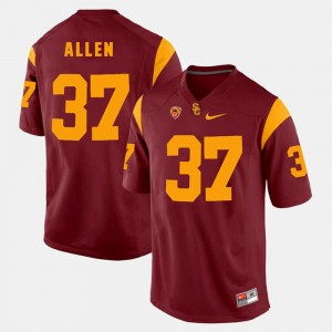 Mens Pac-12 Game USC Trojans #37 Javorius Allen college Jersey - Red