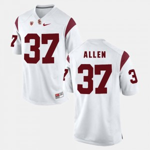 Men's Pac-12 Game Trojans #37 Javorius Allen college Jersey - White