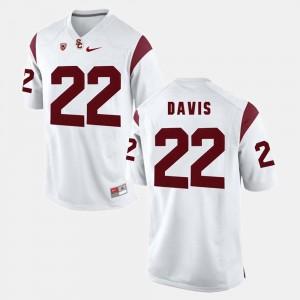 Men Pac-12 Game #22 Trojans Justin Davis college Jersey - White