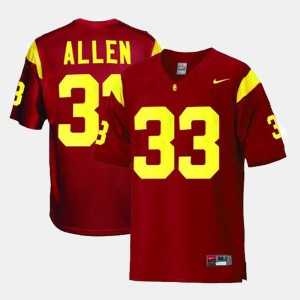 Youth USC Trojans #33 Football Marcus Allen college Jersey - Red