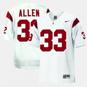 Mens Football #33 Trojans Marcus Allen college Jersey - White