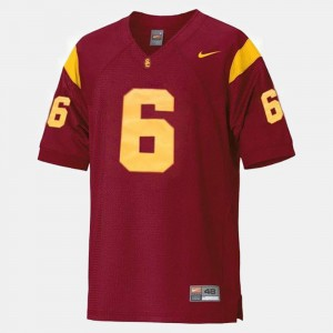 Youth #6 USC Football Mark Sanchez college Jersey - Red