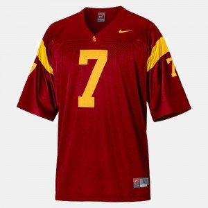 Men Football #7 USC Trojan Matt Barkley college Jersey - Red