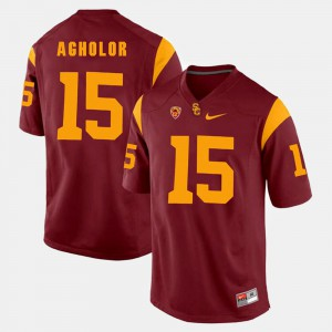 Men Pac-12 Game USC Trojans #15 Nelson Agholor college Jersey - Red