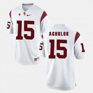 Men USC Trojans Pac-12 Game #15 Nelson Agholor college Jersey - White