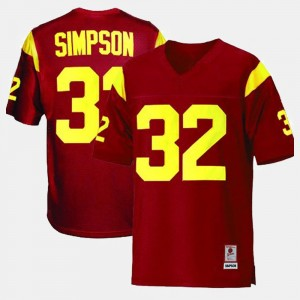 Kids USC Trojans Football #32 O.J. Simpson college Jersey - Red