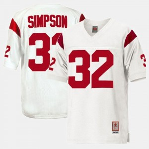 Kids Football Trojans #32 O.J. Simpson college Jersey - White
