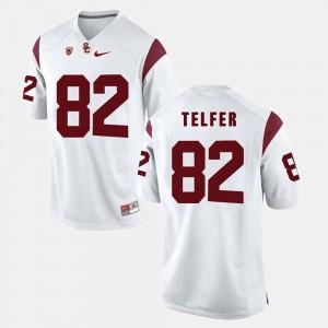 Men #82 USC Pac-12 Game Randall Telfer college Jersey - White