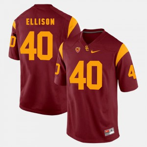 Men's #40 USC Trojans Pac-12 Game Rhett Ellison college Jersey - Red
