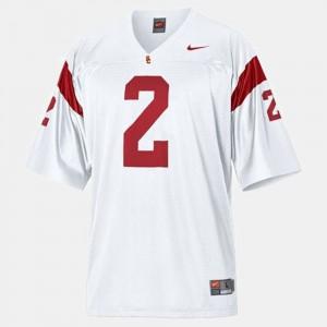 Kids #2 Football USC Trojans Robert Woods college Jersey - White