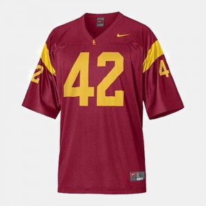 Men #42 USC Football Ronnie Lott college Jersey - Red