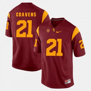 Men's USC #21 Pac-12 Game Su'a Cravens college Jersey - Red