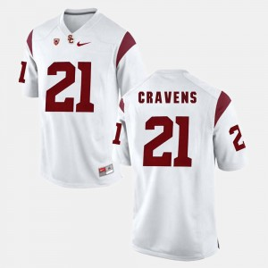 Men #21 USC Trojans Pac-12 Game Su'a Cravens college Jersey - White