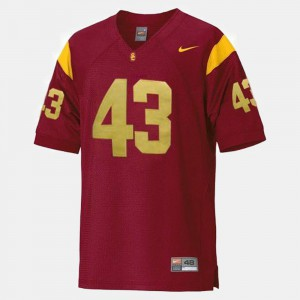 Youth #43 Trojans Football Troy Polamalu college Jersey - Red