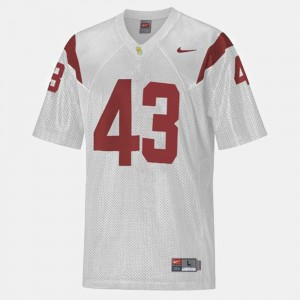 Mens Football USC #43 Troy Polamalu college Jersey - White