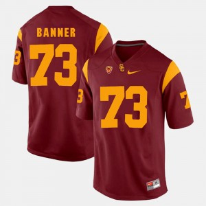 Mens USC Trojan #73 Pac-12 Game Zach Banner college Jersey - Red