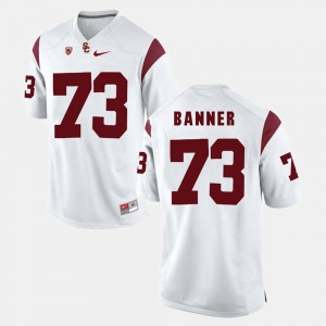 Mens #73 Zach Banner college Jersey - White Pac-12 Game USC Trojan